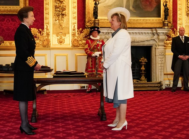Alison Saunders is made a Dame Commander of the Order of the Bath by the Princess Royal (PA)