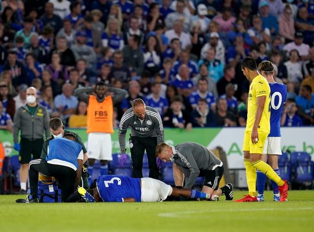 Leicester's Wesley Fofana has confirmed he has fractured his fibula. (David Davies/PA)