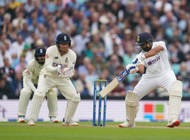 Rohit Sharma (right) capped his impressive efforts in the series with a superb 127 (Adam Davy/PA)