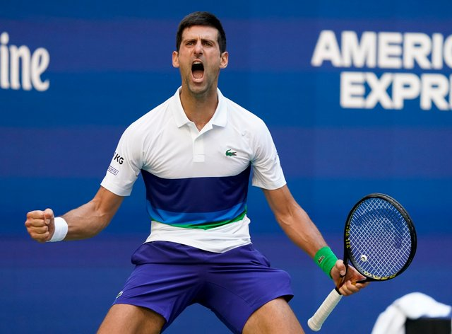 Novak Djokovic's emotions were on full display against Kei Nishikori (John Minchillo/AP)