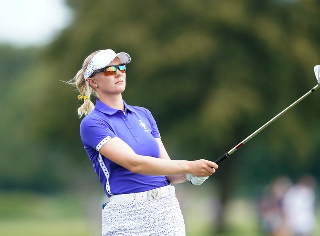 Madelene Sagstrom was involved in controversy on day one of the Solheim Cup (Carlos Osorio/AP)