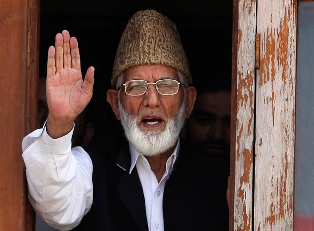 Kashmiri separatist leader Syed Ali Geelani died on Wednesday at the age of 91 (Altaf Qadri/AP)
