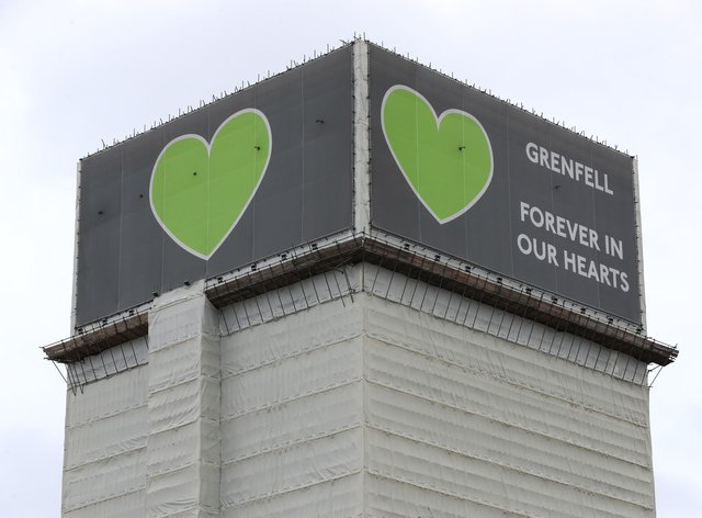 Grenfell survivors have said any decision on the timing of the tower's demolition must be made by them (Jonathan Brady/PA)