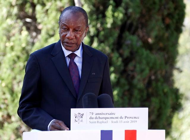 Guinea's president, Alpha Conde (Eric Gaillard/Pool/AP)