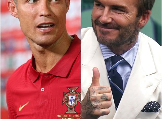 Cristiano Ronaldo and David Beckham (Isabel Infantes/Adam Davy)