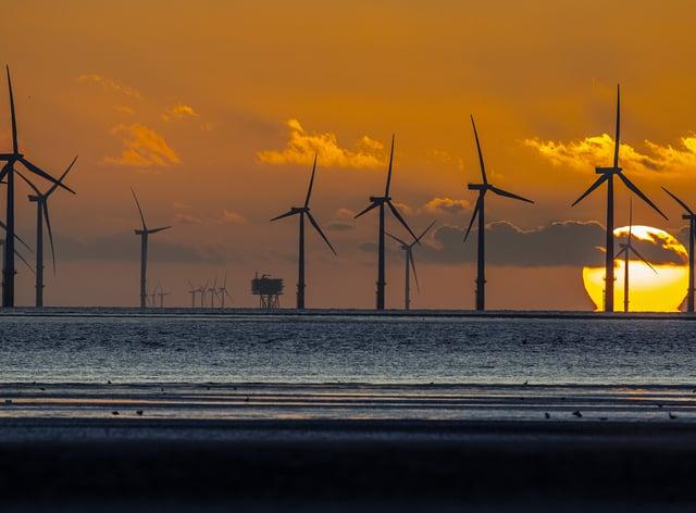 Burbo Bank wind farm off Merseyside (Peter Byrne/PA)