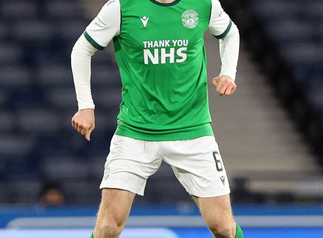 Hibernian's Paul McGinn has been called up to the Scotland squad (Jeff Holmes/PA).