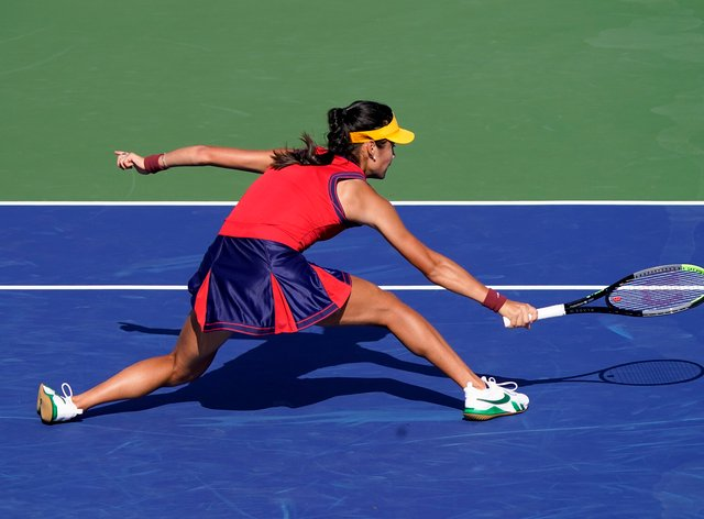 Emma Raducanu faces Shelby Rogers for a place in the quarter-finals of the US Open (Seth Wenig/PA)