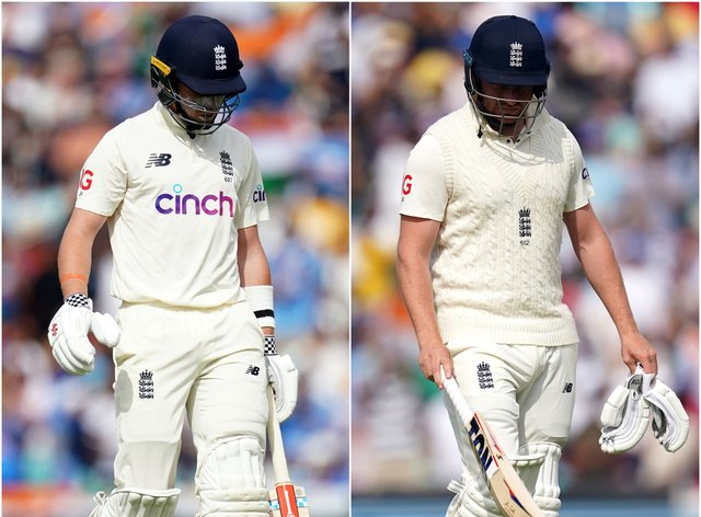 Ollie Pope, left, and Jonny Bairstow scored two and nought respectively (Adam Davy/PA)