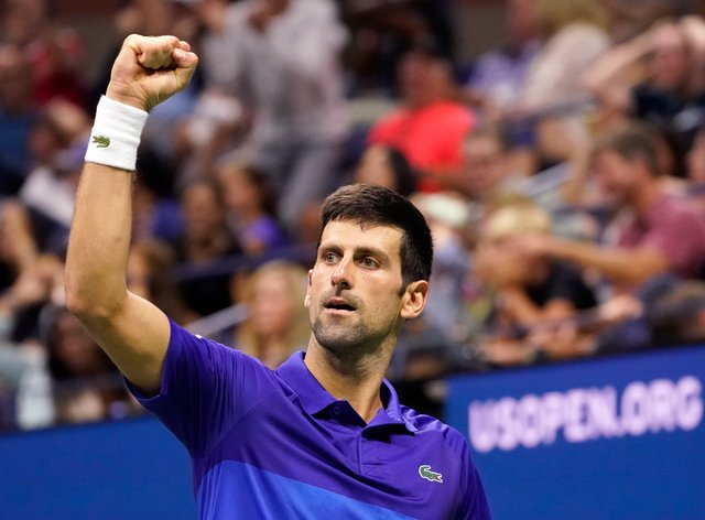 Novak Djokovic survived a first set scare to defeat Jenson Brooksby (John Minchillo/AP)