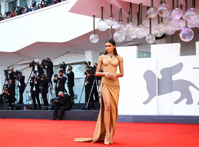 Zendaya at the premiere of Dune in Venice (Joel C Ryan/AP)