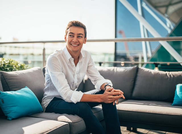 George Russell (pictured) will partner Lewis Hamilton at Mercedes in 2022 (Richard Pardon/Daimler AG/PA)