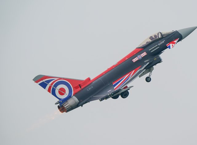 Meggitt makes parts for Eurofighter Typhoon jets (Joe Giddens/PA)