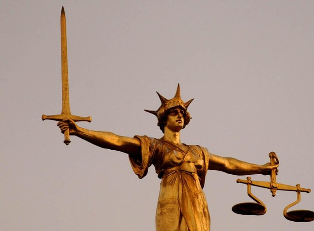 The Scales of Justice at the Old Bailey (PA Wire)