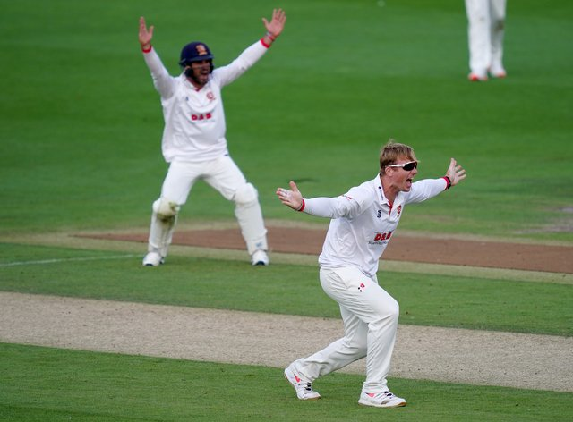 Essex off-spinner Simon Harmer moved to 49 Championship wickets for the season (John Walton/PA)