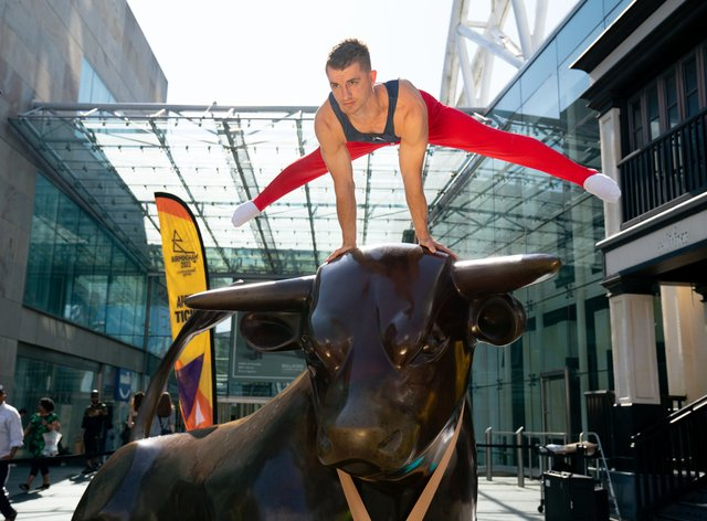 Olympic gold medallist Max Whitlock is looking forward to a home Commonwealth Games (PA)