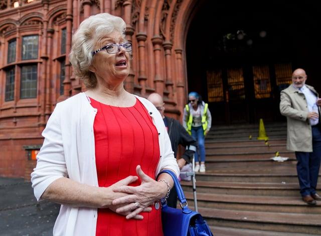 Julie Hambleton at Birmingham Magistrates' Court. (Jacob King/PA)