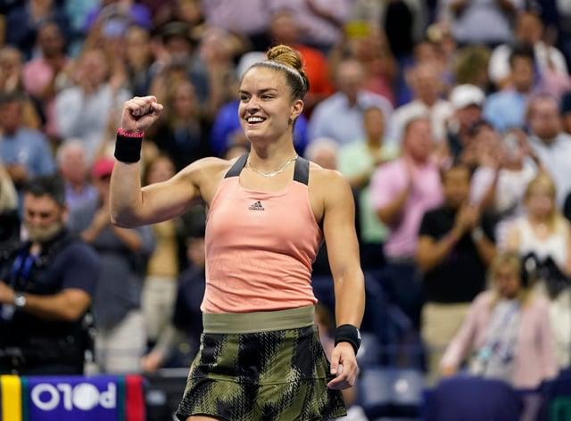 Maria Sakkari beat Karolina Pliskova (Frank Franklin II/AP)