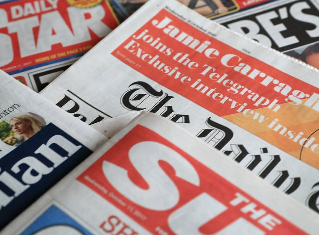 What the papers say – September 9 (Peter Byrne/PA)