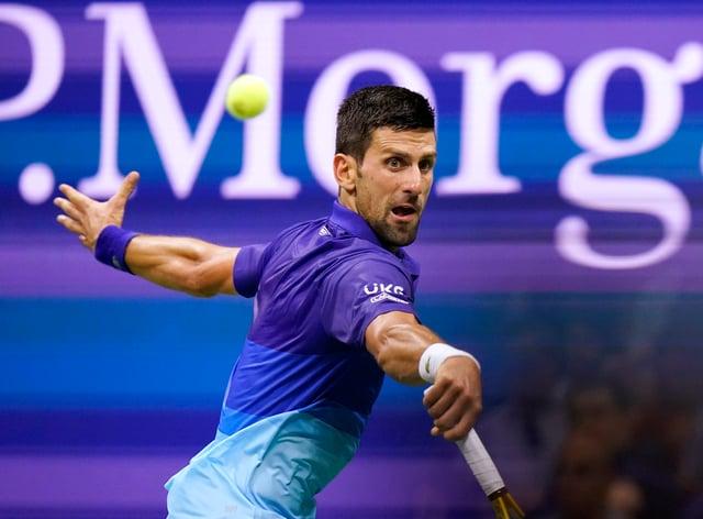 Novak Djokovic beat Matteo Berrettini in four sets (Frank Franklin II/AP)