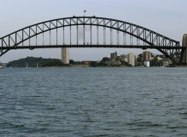 A View of the Sydney Harbour Bridge and Opera House (Chris Radburn/AP)