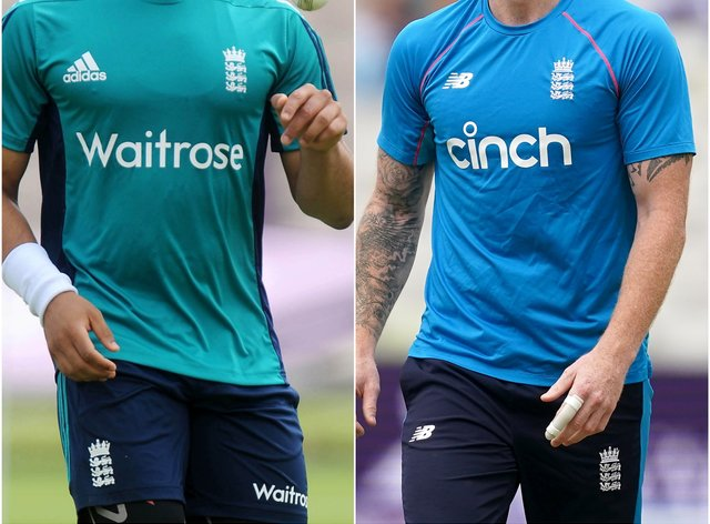 Tymal Mills and Ben Stokes (Clive Gee/Martin Rickett/PA)