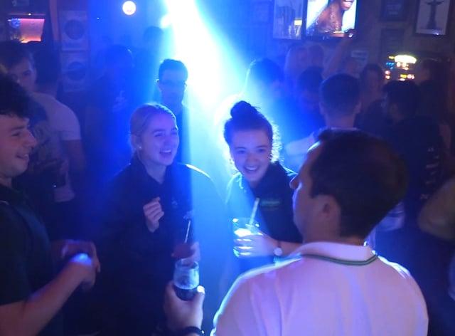Revellers enjoy themselves at Boteca do Brasil nightclub in Glasgow (PA)