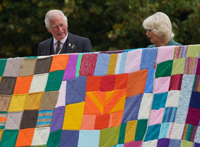The Prince of Wales and the Duchess of Cornwall during a visit to Dumfries House in Ayrshire (Andrew Milligan/PA)