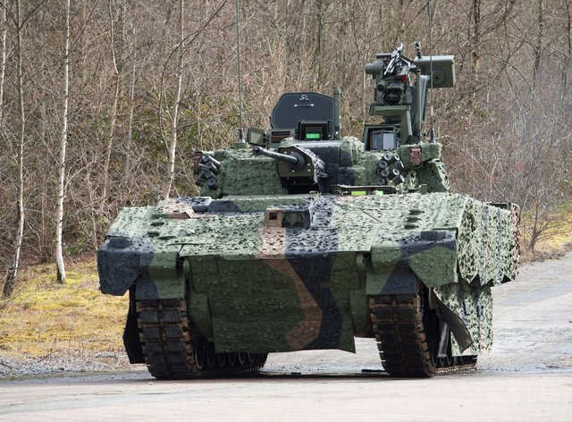 The Ajax armoured fighting vehicle (Andrew Linnett/PA)