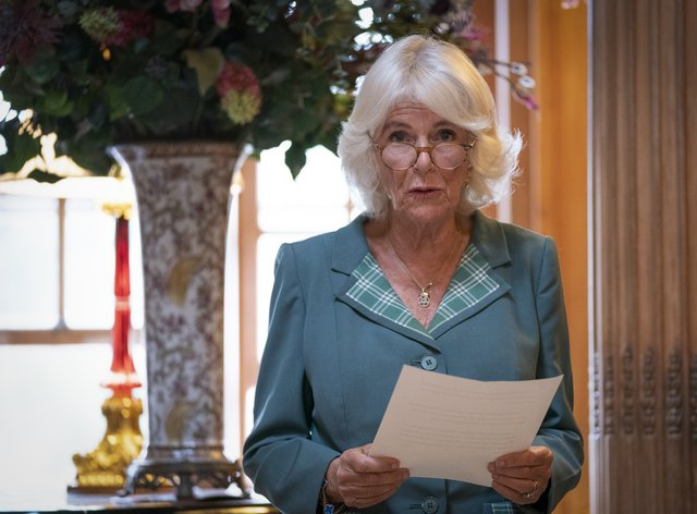 The Duchess of Cornwall was speaking at a Women in Journalism meeting in Scotland (Jane Barlow/PA)