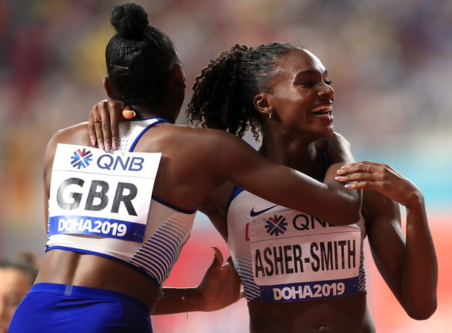British sprinters Dina Asher-Smith, right, and Daryll Neita each ran sub-11 seconds in Zurich (Mike Egerton/PA)