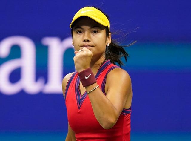 Emma Raducanu is in the US Open final (Frank Franklin II/AP)