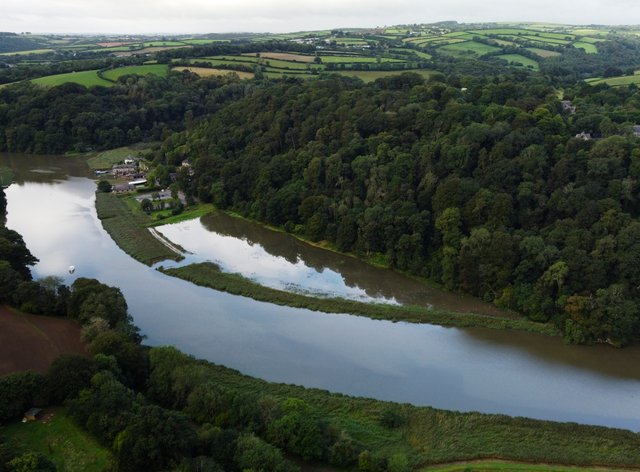 Aerial photo of the successfully flooded site Credit (Steve Haywood/National Trust/PA)