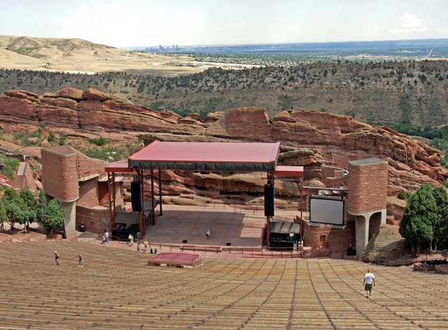 The Red Rocks venue outside Denver, Colorado (AP)