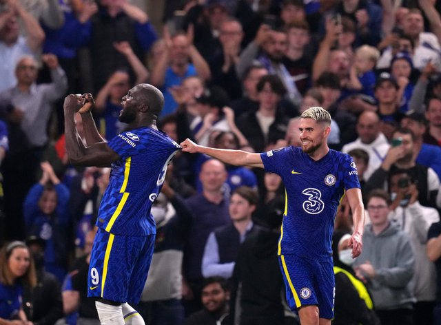 Chelsea's Romelu Lukaku celebrates scoring the winner (John Walton/PA)