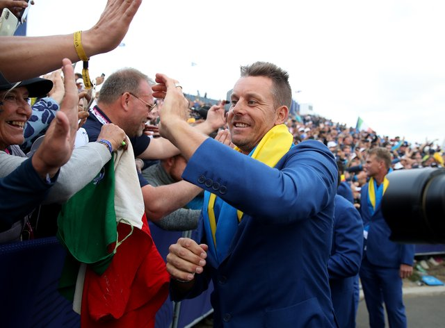 Henrik Stenson, who was part of the winning team in Paris, has been named a vice-captain for the 2020 Ryder Cup (Adam Davy/PA)