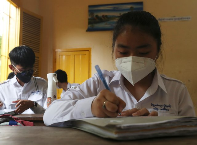 The figures were released in the health agency's weekly update (Heng Sinith/AP)