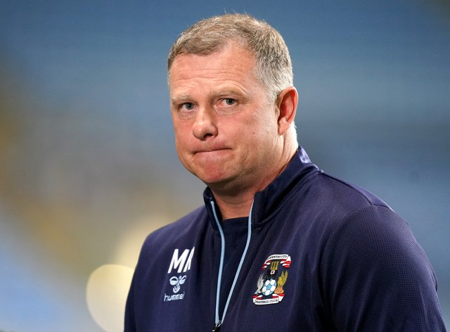 """Coventry manager Mark Robins hailed an """"outstanding"""" defensive effort in the win over Cardiff (Mike Egerton/PA)"""