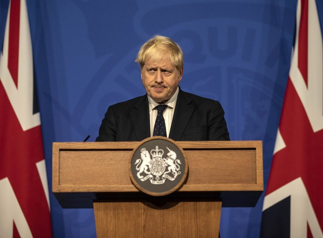 Prime Minister Boris Johnson announced, along with the leaders of the US and Australia, a new defence alliance (Richard Pohle/The Times/PA)