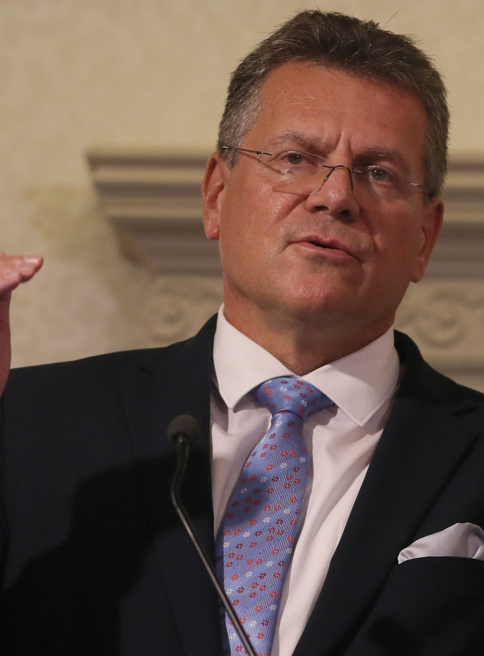 European Commission vice-president Maros Sefcovic will outline a series of measures aimed at solving the row over the Northern Ireland Protocol (Brian Lawless/PA)