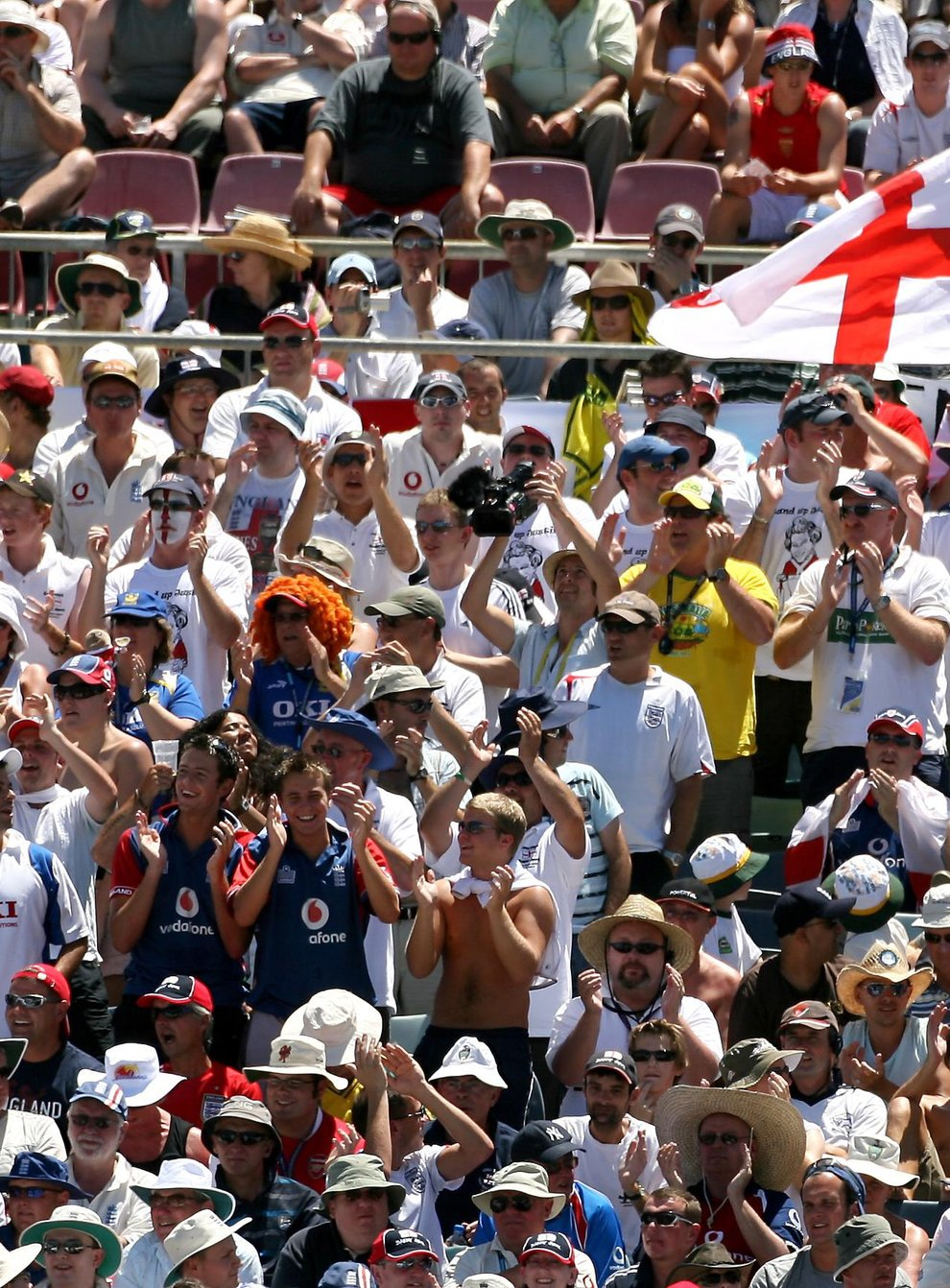 England's Barmy Army vowed to make up for lost time at the T20 World Cup (Gareth Copley/PA)