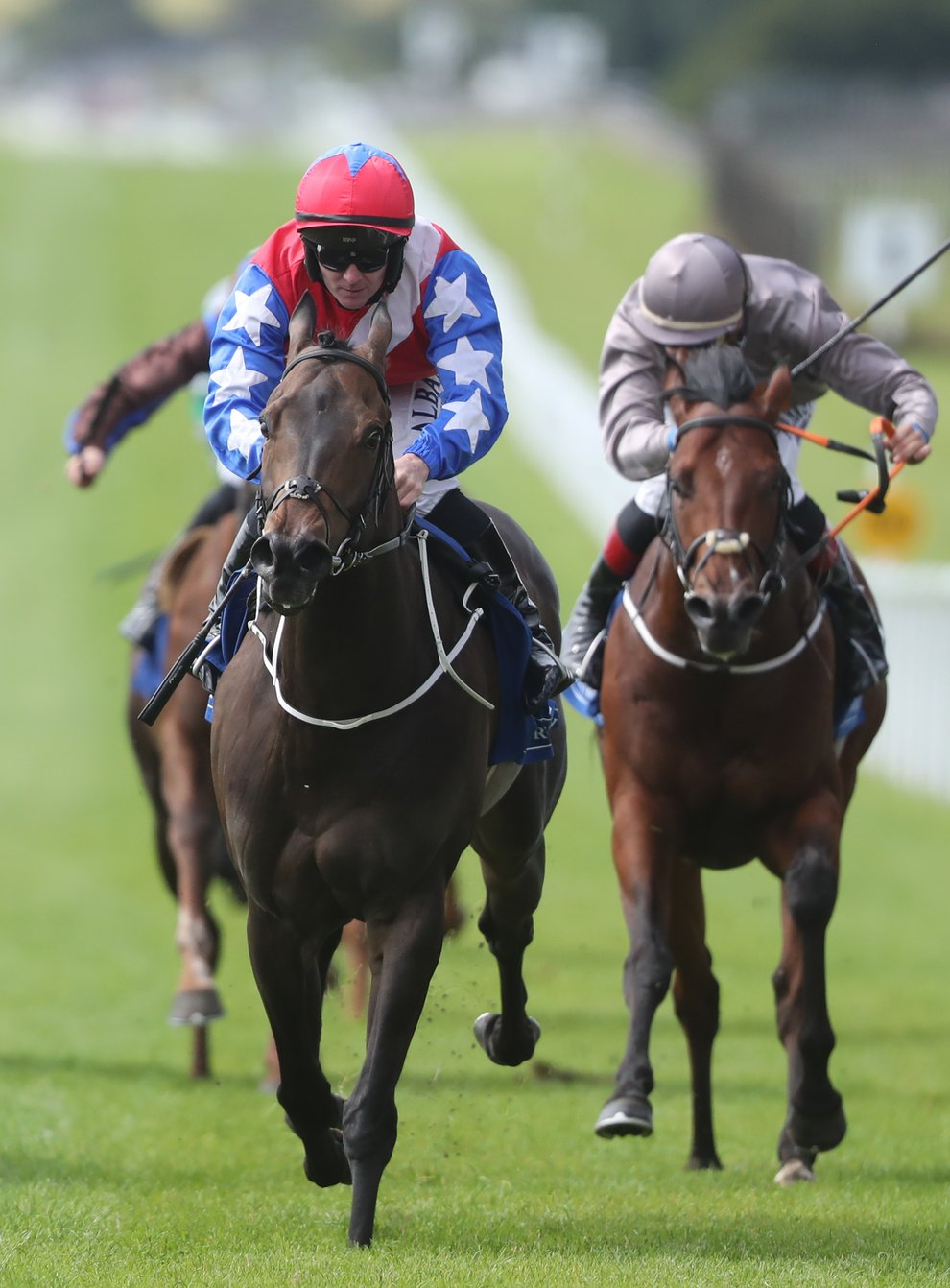 Gustavus Weston (red cap) is said to be in top for ahead of the Qipco British Champions Sprint (Niall Carson/PA)