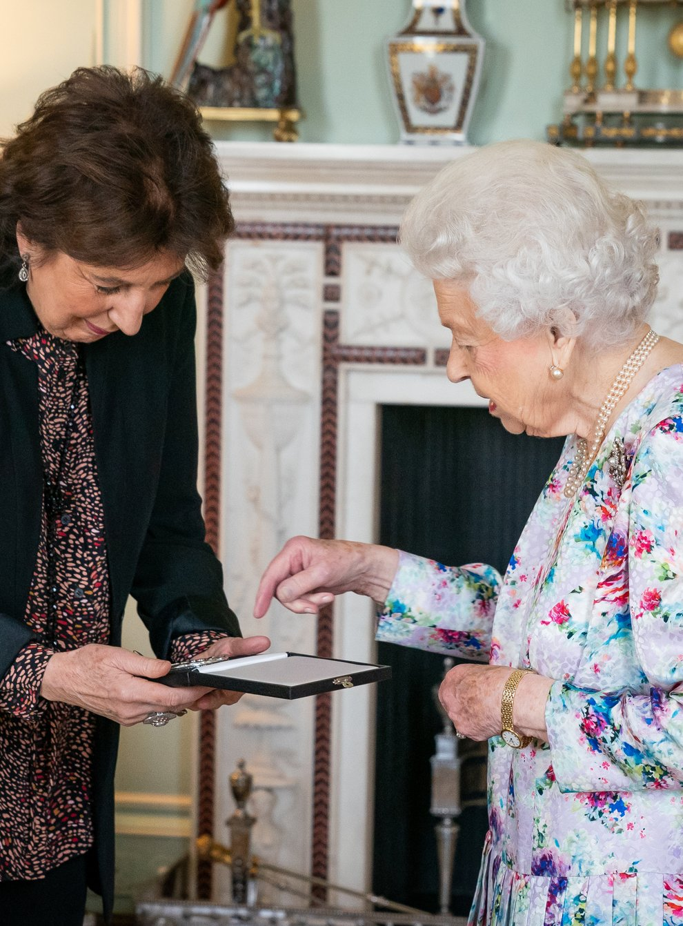Dame Imogen Cooper has been presented with the Queen's Medal for Music at Buckingham Palace (Aaron Chown/PA)