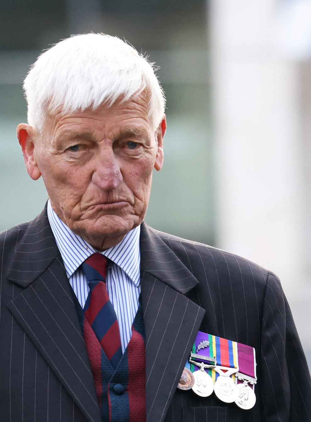 Dennis Hutchings, 80, a former member of the Life Guards regiment, has pleaded not guilty to the attempted murder of John Pat Cunningham in Co Tyrone in 1974 (Peter Morrison/PA)