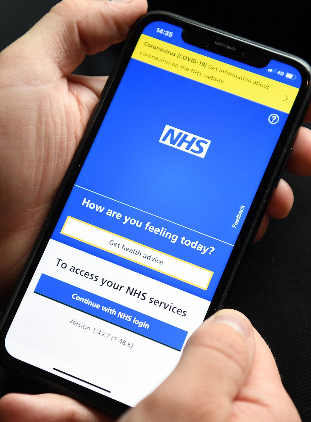 The NHS app has not been working (PA)