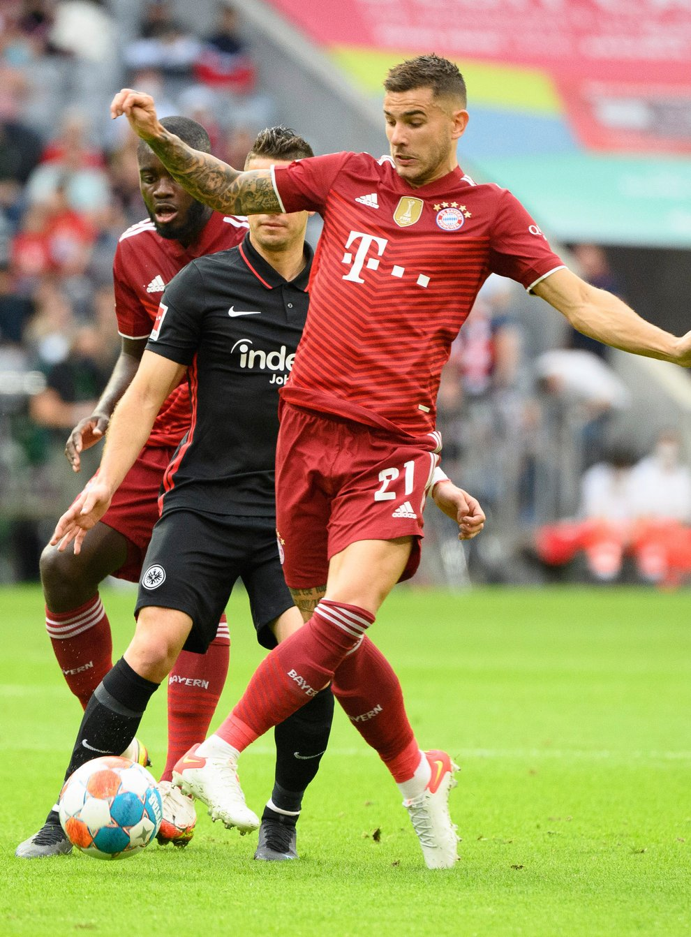 Lucas Hernandez (right) plays for Bayern Munich (Matthias Balk/dpa via AP)