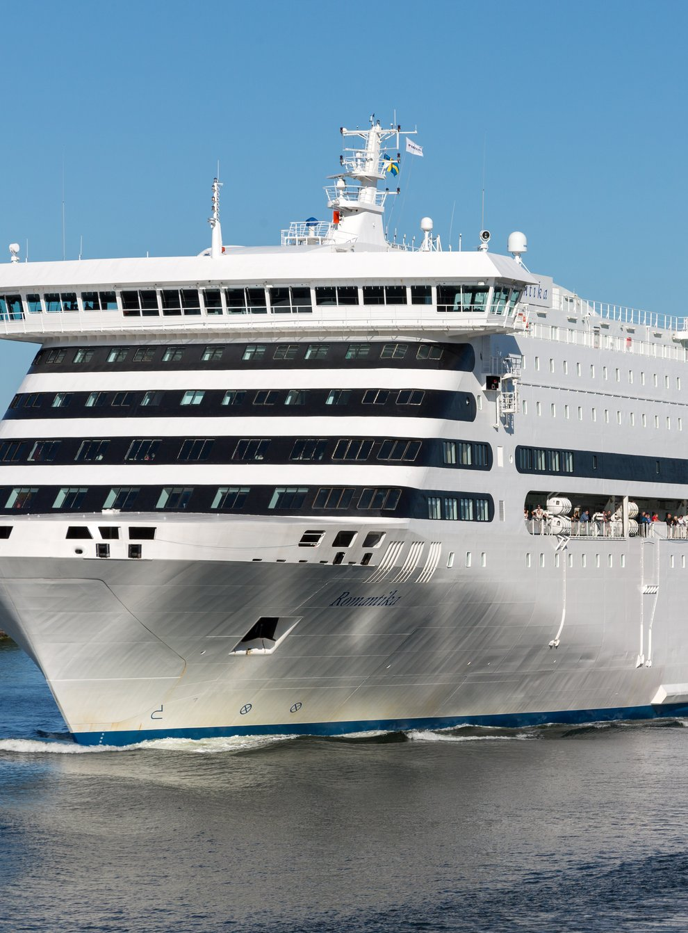 Cruise ship Romantika has arrived in Glasgow to accommodate delegates attending Cop26 (AS Tallink Grupp/PA)
