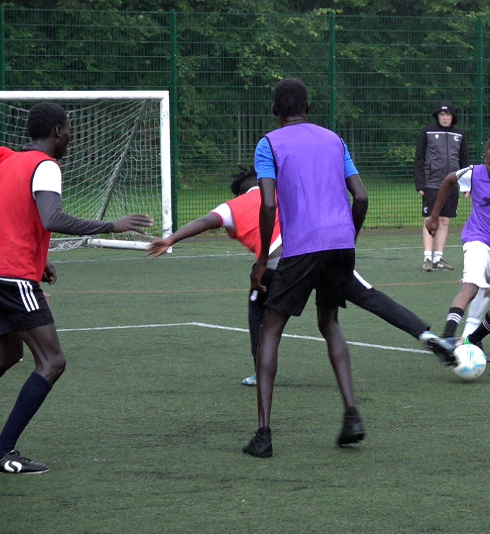 Scunthorpe United Community Trust's coaching programme for refugees was hugely successful (Rich McCarthy/PA)