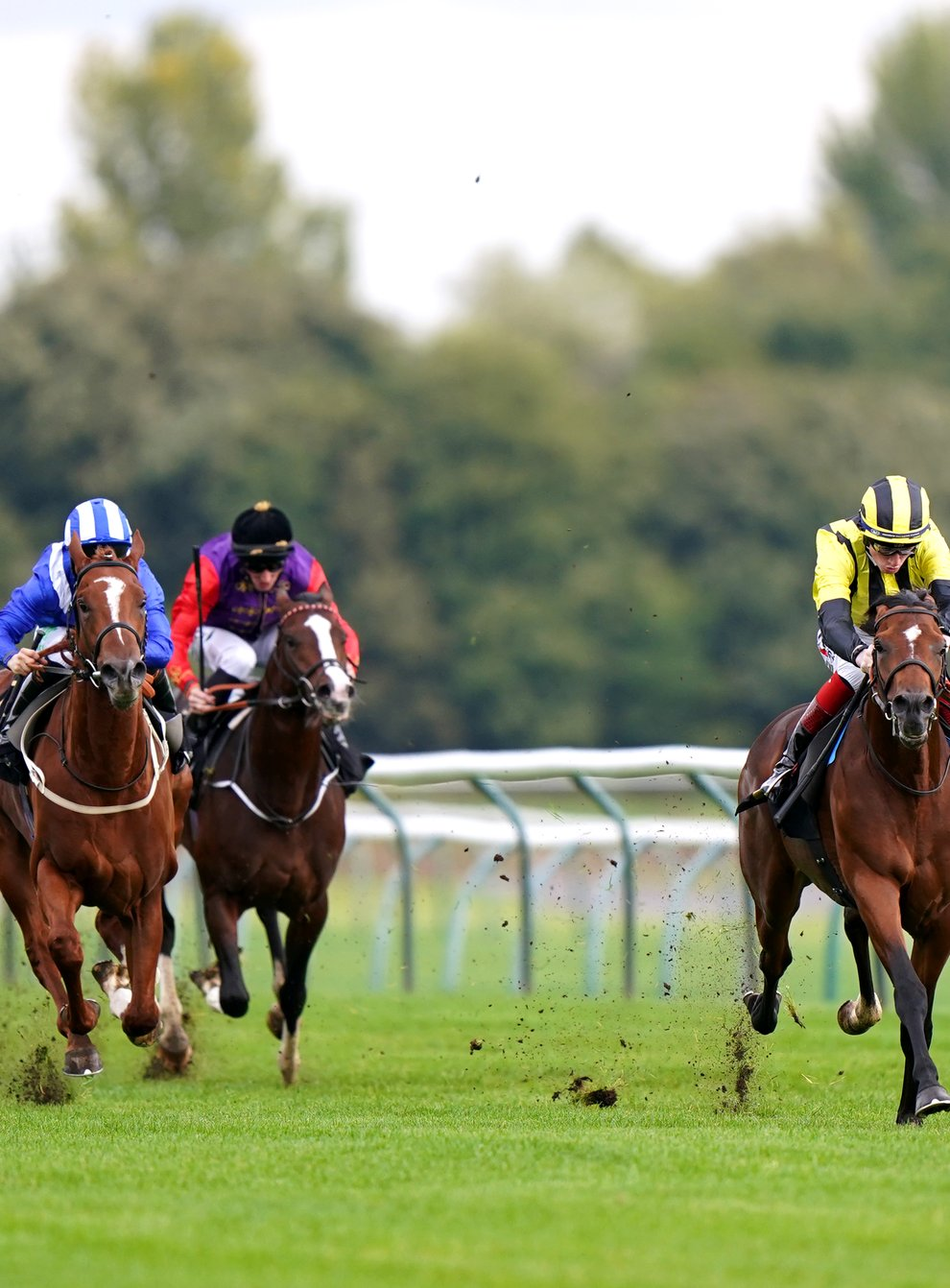 Eldar Eldarov (right) makes the perfect start to his career as he pulls clear of the opposition at Nottingham (Tim Goode/PA)