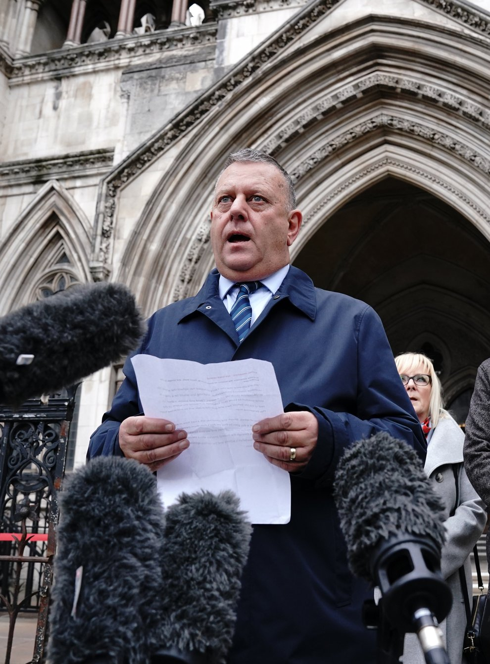 Gary Furlong, the father of James Furlong, outside the Royal Courts Of Justice (Jonathan Brady/PA)